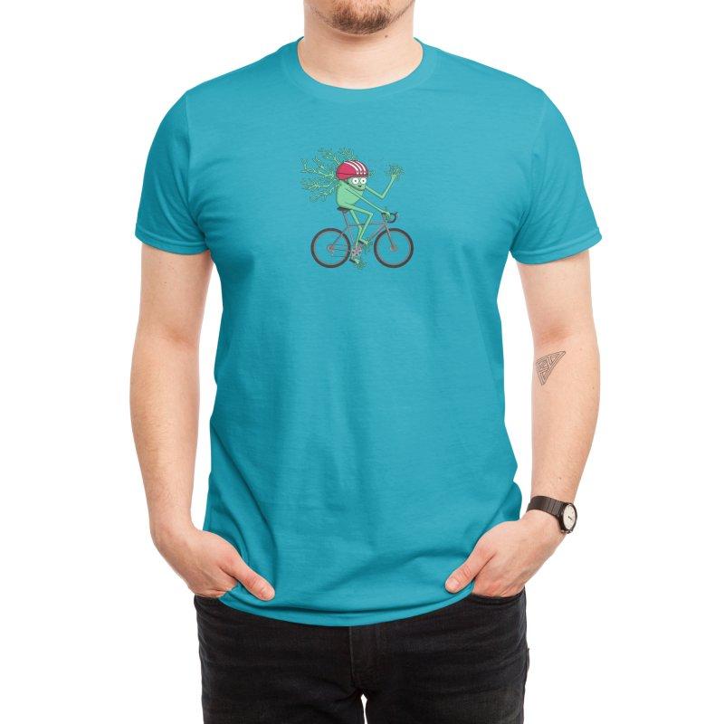 Biking Neuron Men's T-Shirt by The Neuron Family