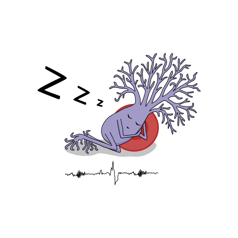 Sleepy Neuron Men's T-Shirt by The Neuron Family