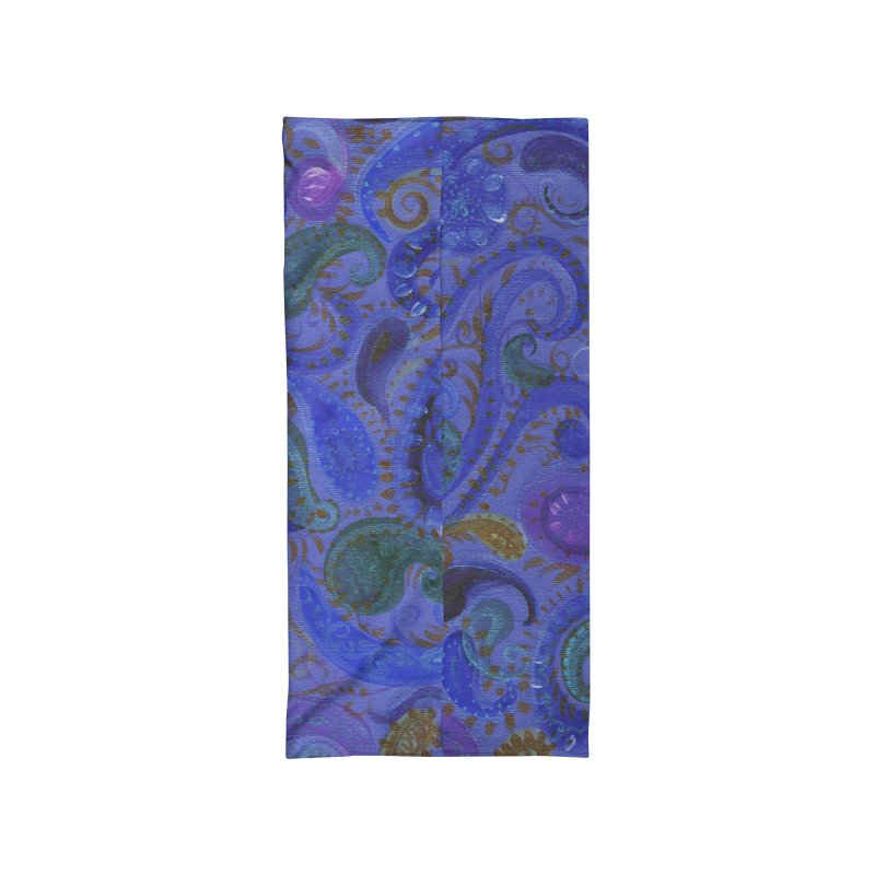 Blue Paisley by Marian Nixon Paintings Accessories Neck Gaiter by Marian Nixon's Artist Shop