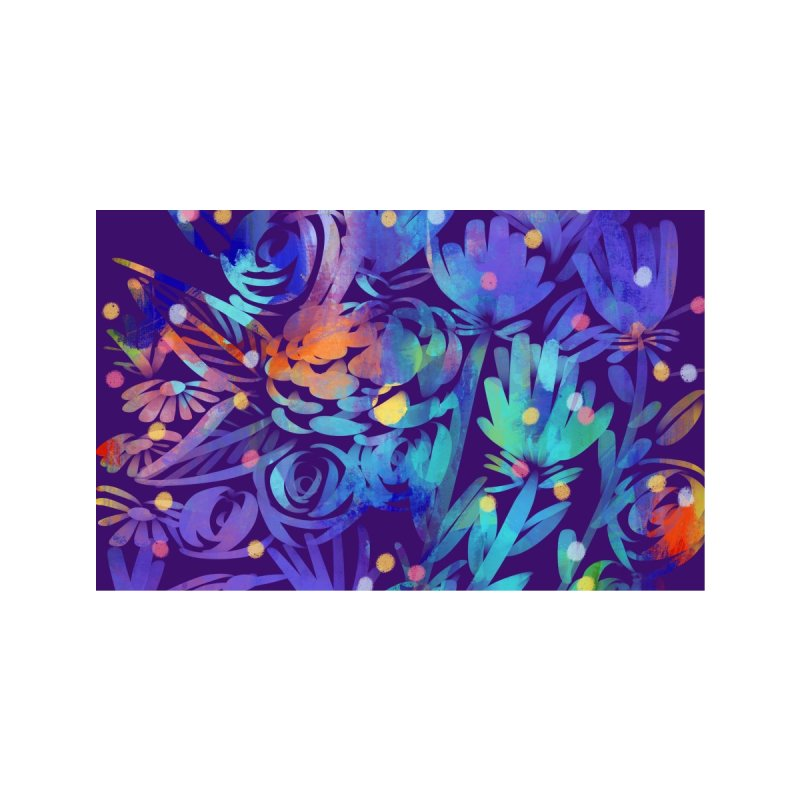 Night Garden Painting by Marian Nixon Accessories Face Mask by Marian Nixon's Artist Shop