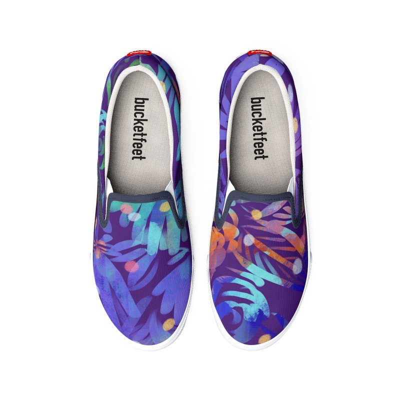 Night Garden Painting by Marian Nixon Men's Shoes by Marian Nixon's Artist Shop