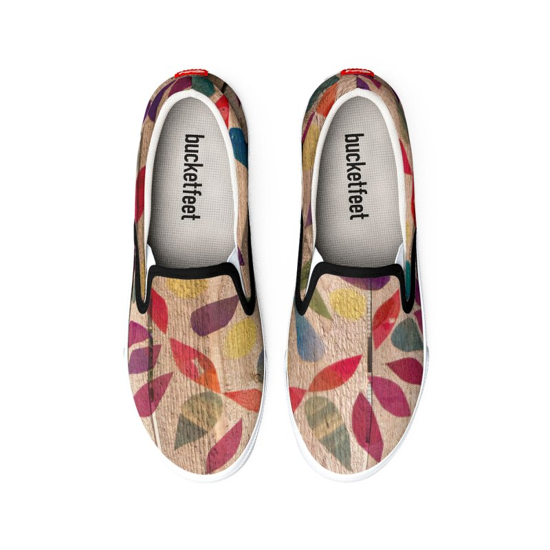 Wood Mandela by Marian Nixon Paintings Men's Shoes by Marian Nixon's Artist Shop