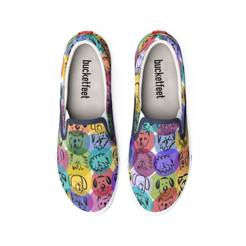 Doggie Art Design by Marian Nixon Paintings Women's Shoes by Mariannixon's Artist Shop