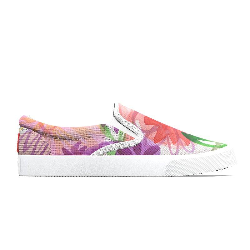 Pink Floral Women's Shoes by Mariannixon's Artist Shop
