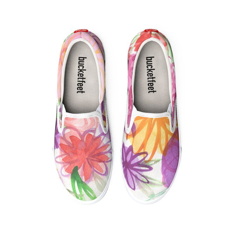 Pink Floral Watercolor by Marian Nixon Men's Shoes by Marian Nixon's Artist Shop