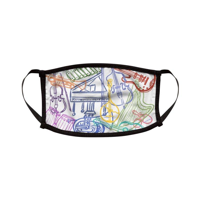 Musical Instrument Design Accessories Face Mask by Mariannixon's Artist Shop