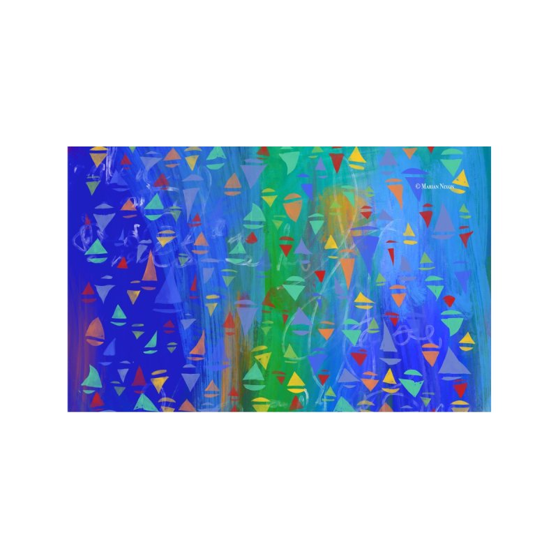 Seaside Sailboats by Marian Nixon Paintings Accessories Face Mask by Mariannixon's Artist Shop