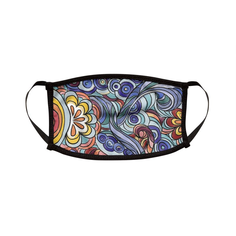 Funky Sixties Design Accessories Face Mask by Mariannixon's Artist Shop