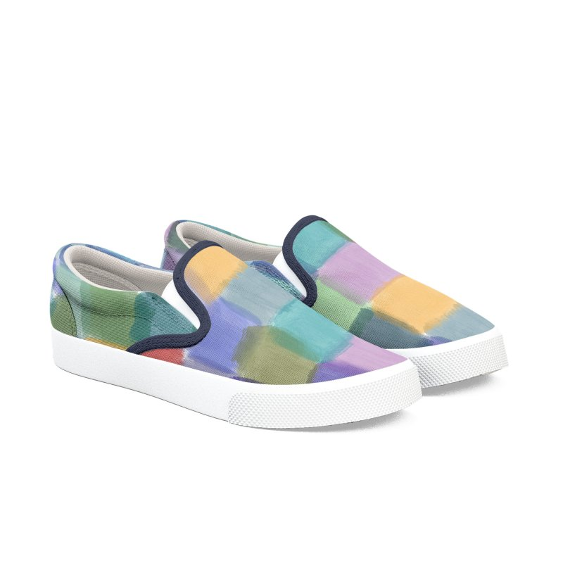 Watercolor Squares by Marian Nixon Paintings Women's Shoes by Mariannixon's Artist Shop