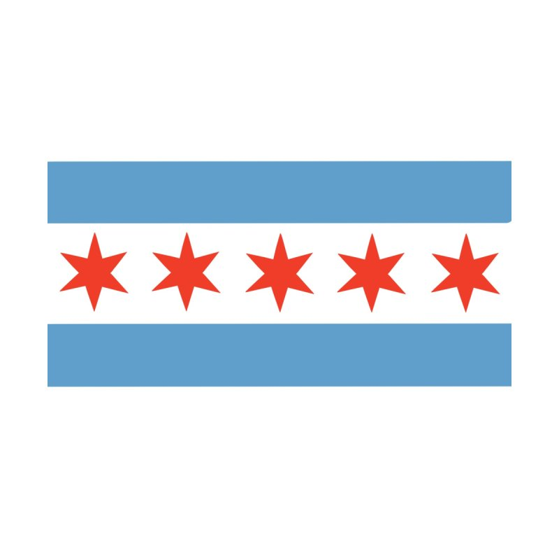 5 Star Chicago Flag Accessories Face Mask by Mariannixon's Artist Shop
