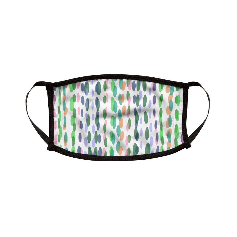 Dots Stripes by Marian Nixon Paintings Accessories Face Mask by Mariannixon's Artist Shop