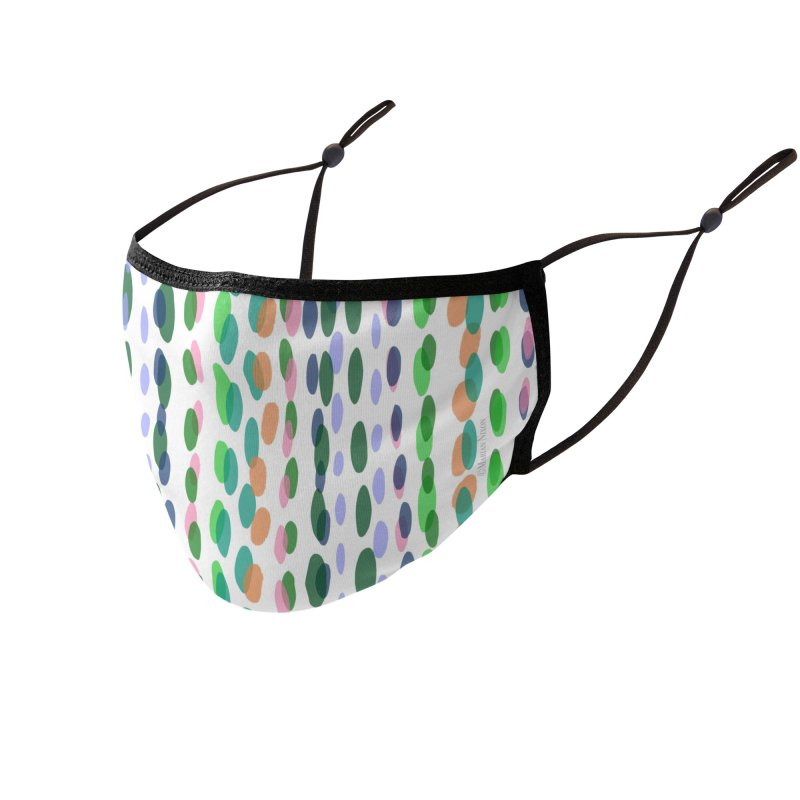 Dots Stripes by Marian Nixon Paintings Accessories Face Mask by Marian Nixon's Artist Shop