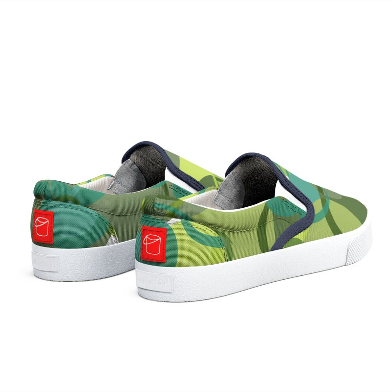 Green Camouflage Design by Marian Nixon Paintings Women's Shoes by Mariannixon's Artist Shop