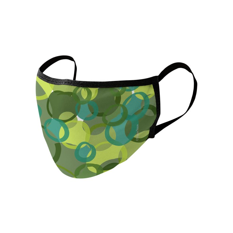 Green Camouflage Design by Marian Nixon Paintings Accessories Face Mask by Mariannixon's Artist Shop