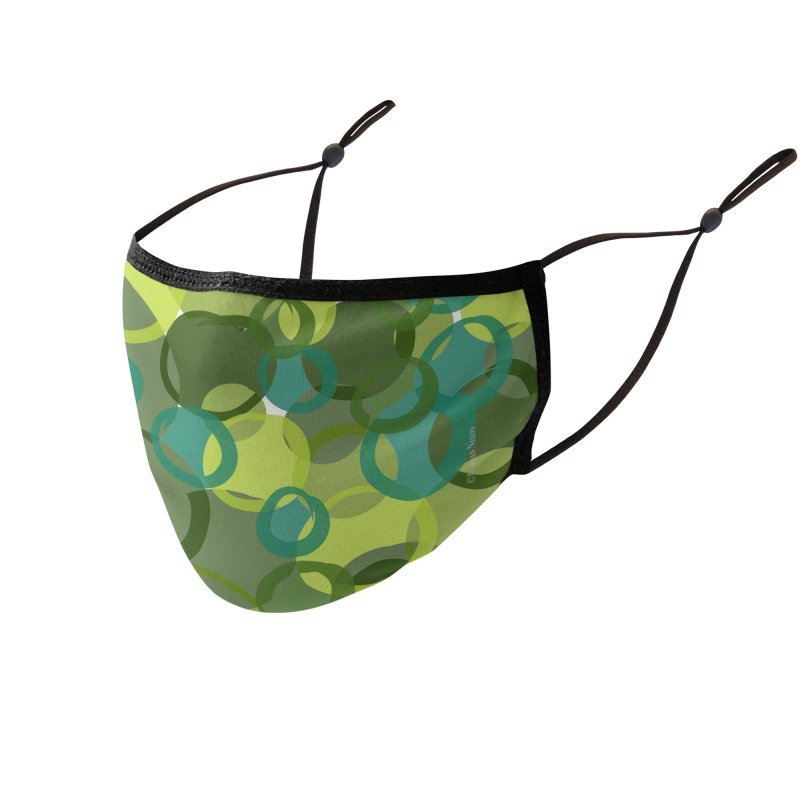 Green Camouflage Design by Marian Nixon Paintings Accessories Face Mask by Marian Nixon's Artist Shop