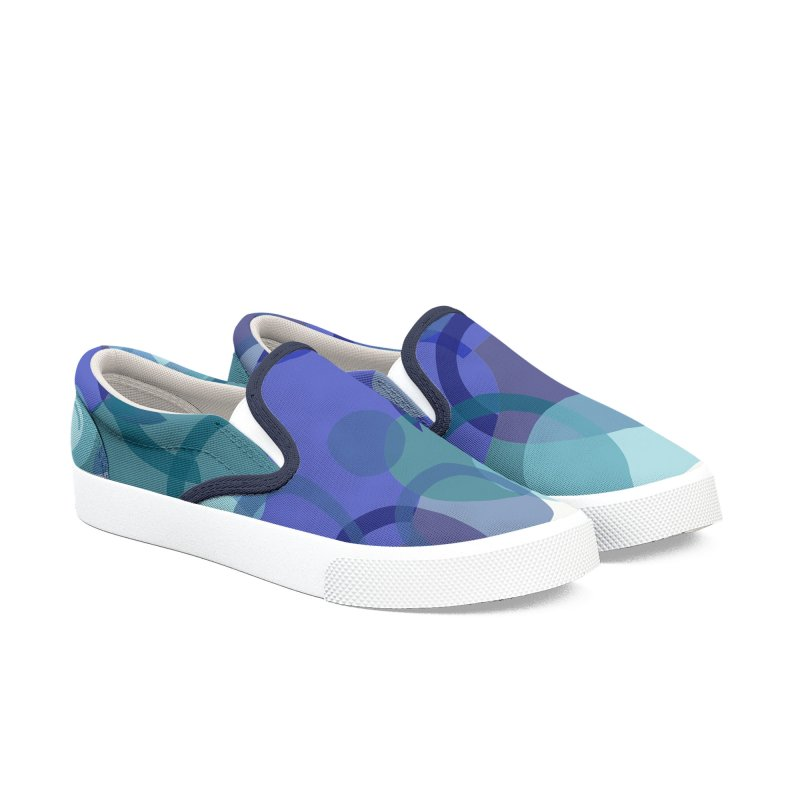 Blue Camouflage by Marian Nixon Paintings Women's Shoes by Mariannixon's Artist Shop