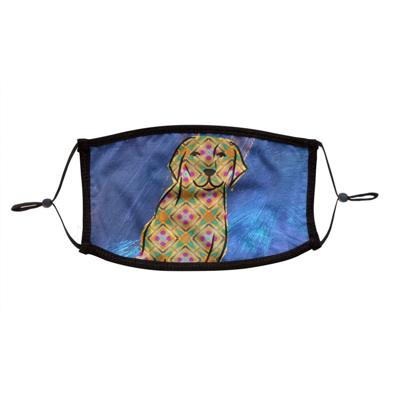 Labrador Retriever Dog by Marian Nixon Paintings Accessories Face Mask by Marian Nixon's Artist Shop