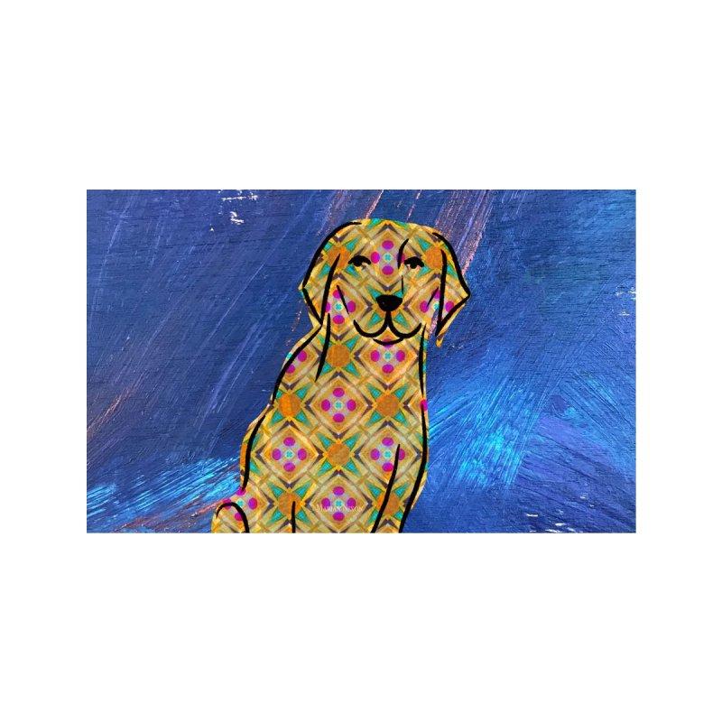 Labrador Retriever Dog by Marian Nixon Paintings Men's T-Shirt by Marian Nixon's Artist Shop