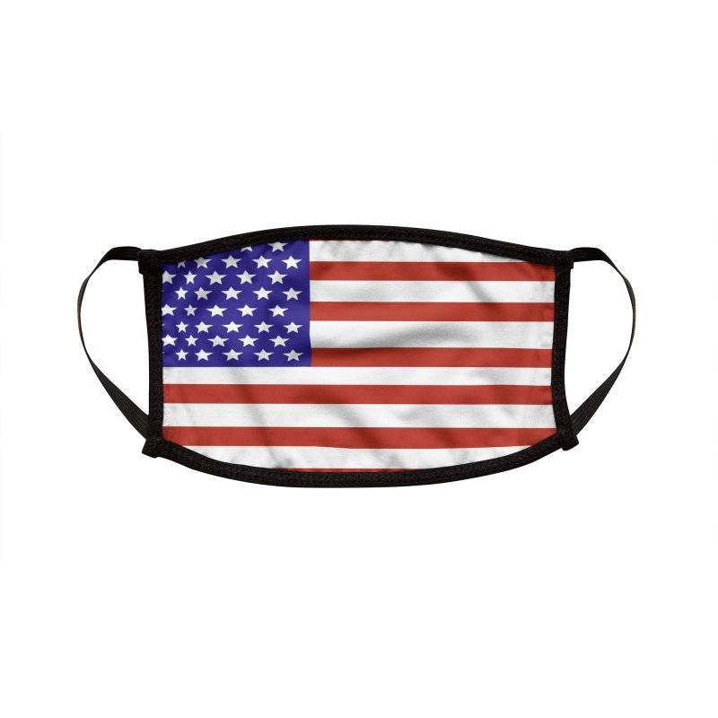 American Flag by Marian Nixon Paintings Accessories Face Mask by Mariannixon's Artist Shop