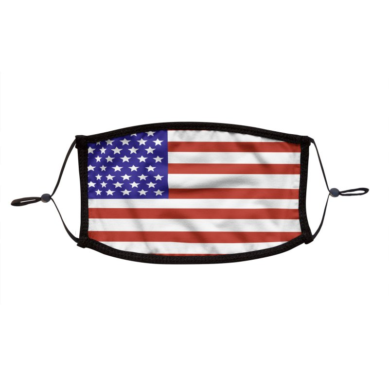 American Flag by Marian Nixon Paintings Accessories Face Mask by Marian Nixon's Artist Shop