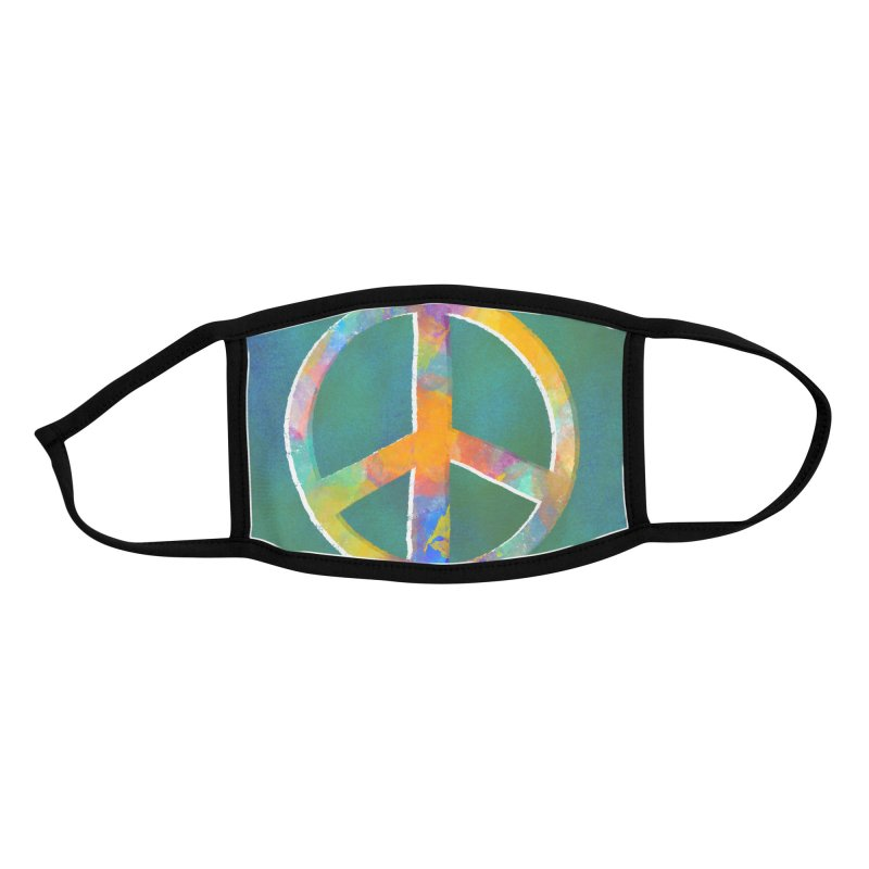 Peace by Marian Nixon Paintings Accessories Face Mask by Mariannixon's Artist Shop