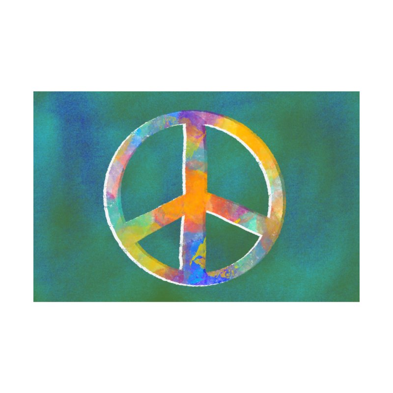 Peace by Marian Nixon Paintings Women's Scoop Neck by Mariannixon's Artist Shop