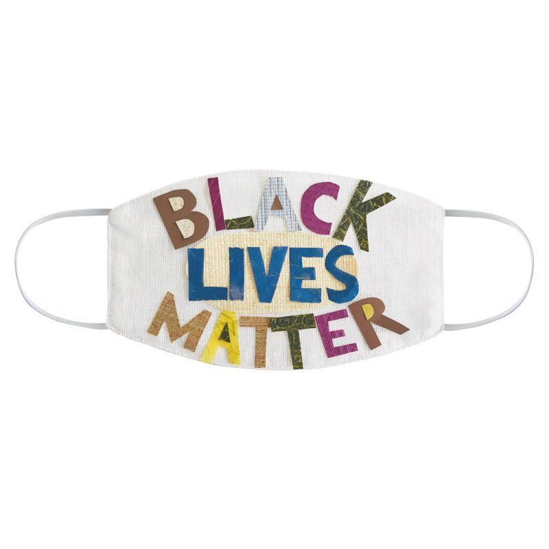 Black Lives Matter by Marian Nixon Paintings - Support Black Lives Matter Accessories Face Mask by Mariannixon's Artist Shop