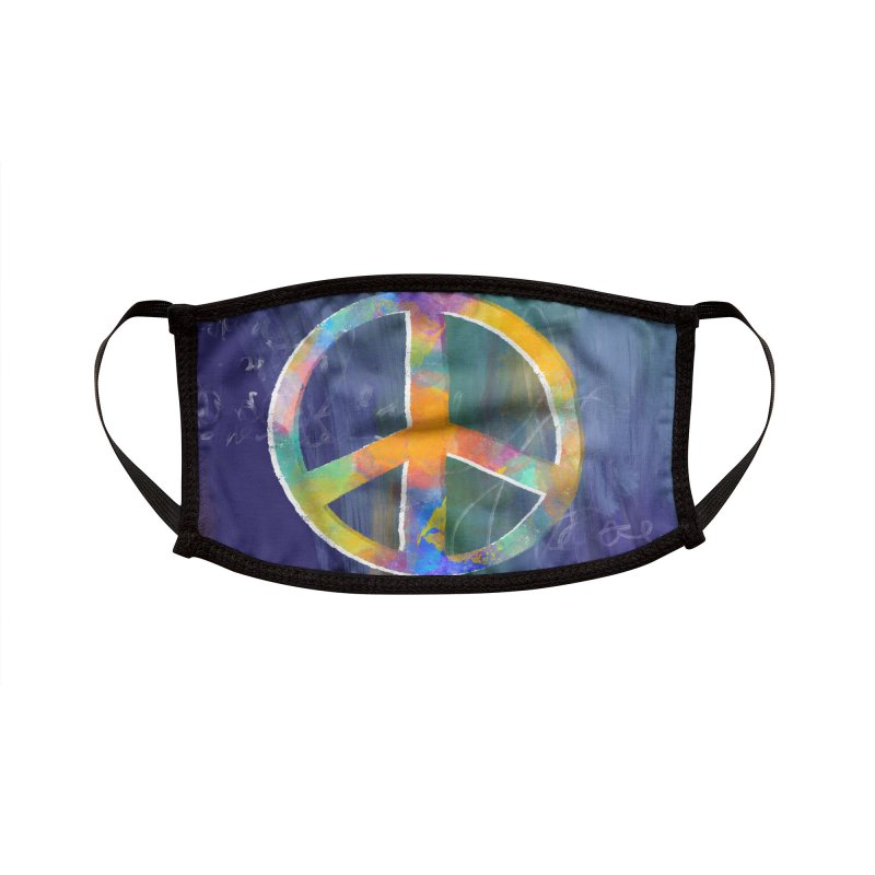Peace Blue by Marian Nixon Paintings Accessories Face Mask by Mariannixon's Artist Shop