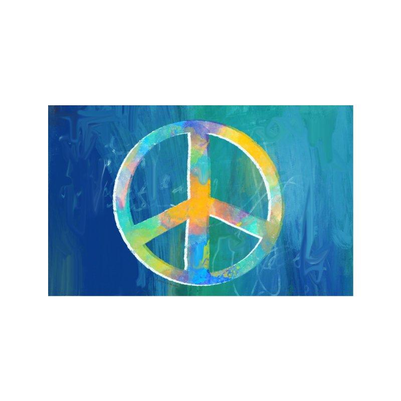 Peace Sign Artwork by Marian Nixon Paintings Men's T-Shirt by Marian Nixon's Artist Shop