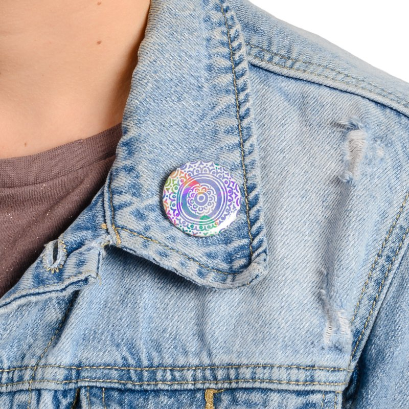 Hip & Groovy by Marian Nixon Paintings Accessories Button by Marian Nixon's Artist Shop