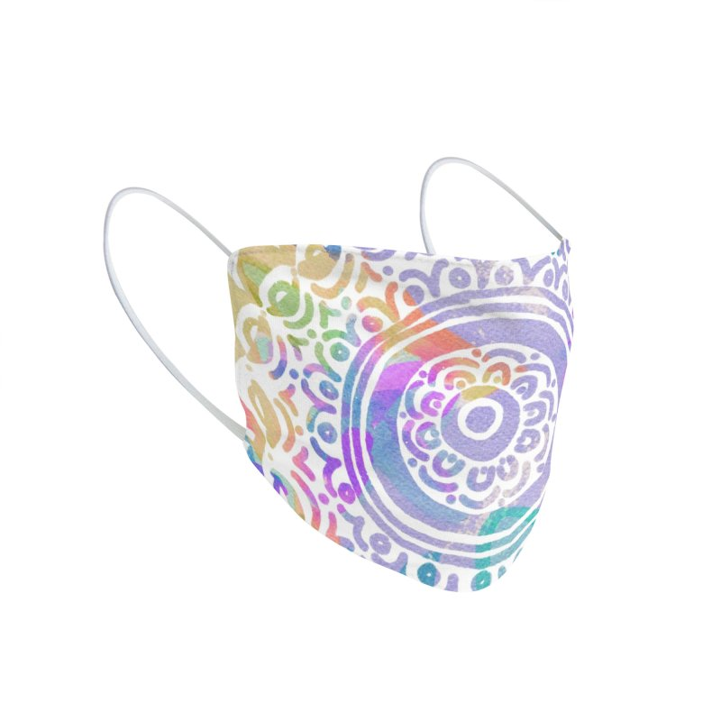 Hip & Groovy by Marian Nixon Paintings Accessories Face Mask by Mariannixon's Artist Shop