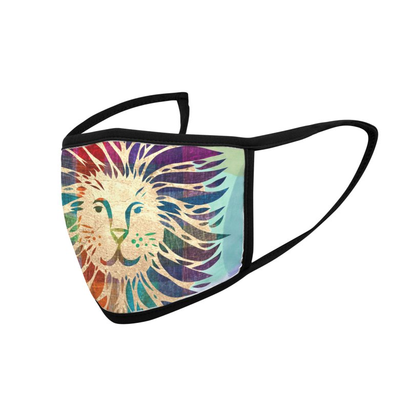Mighty Lion by Marian Nixon Paintings Accessories Face Mask by Mariannixon's Artist Shop