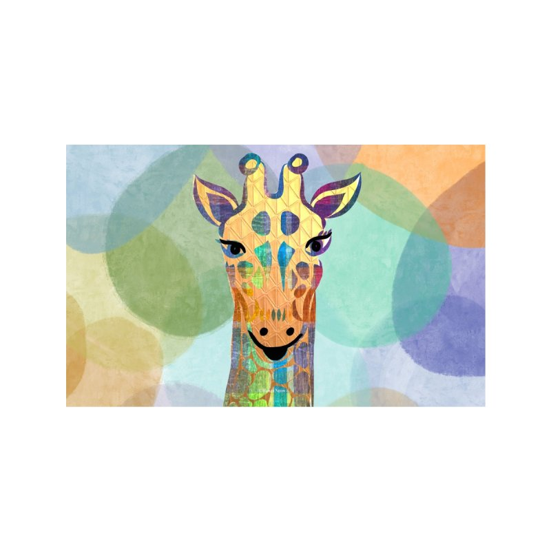 Giraffe by Marian Nixon Paintings Accessories Face Mask by Mariannixon's Artist Shop