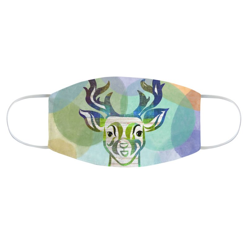 Antelope/Deer by Marian Nixon Paintings Accessories Face Mask by Mariannixon's Artist Shop
