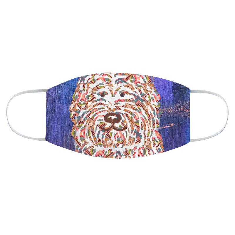 Doodle on Blue by Marian Nixon Paintings Accessories Face Mask by Mariannixon's Artist Shop