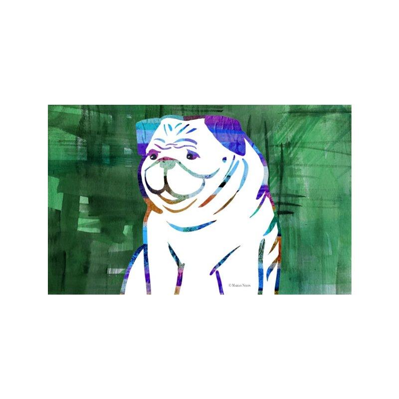 Pug Dog by Marian Nixon Paintings Men's T-Shirt by Marian Nixon's Artist Shop
