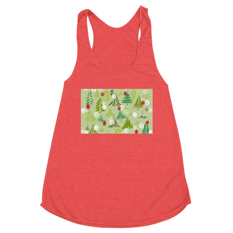 Christmas Snow by Marian Nixon Paintings Women's Tank by Mariannixon's Artist Shop