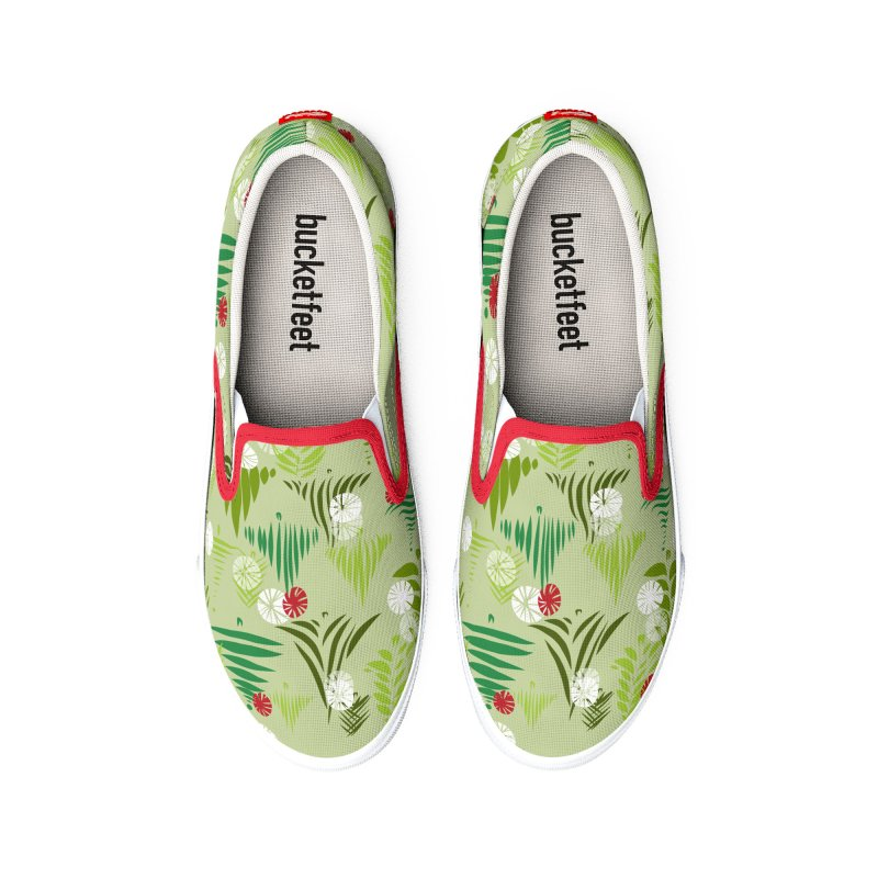 Christmas Snow by Marian Nixon Paintings Women's Shoes by Mariannixon's Artist Shop