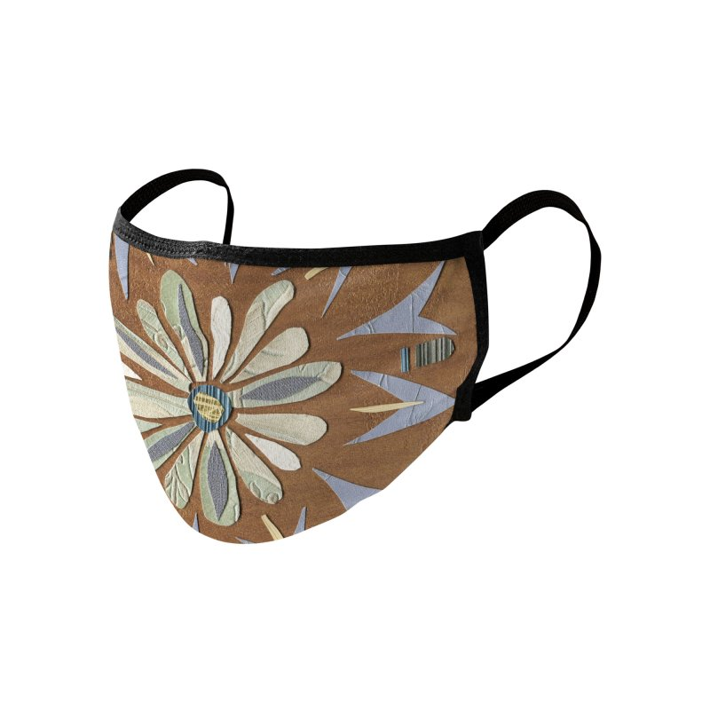Fall Floral by Marian Nixon Paintings Accessories Face Mask by Mariannixon's Artist Shop