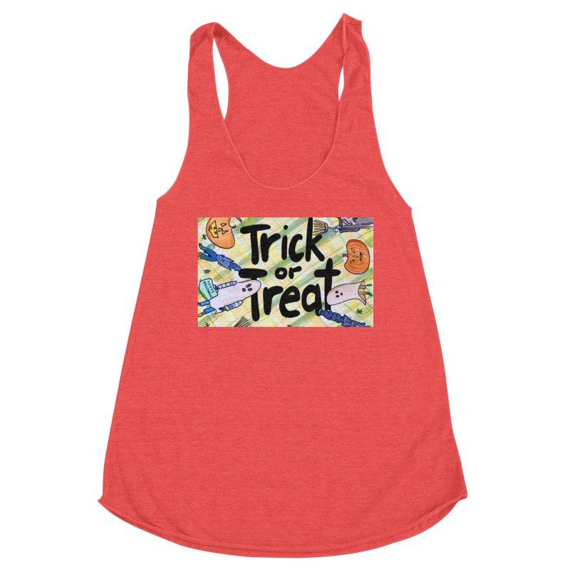 Trick or Treat Halloween Design by Marian Nixon Paintings Women's Tank by Mariannixon's Artist Shop