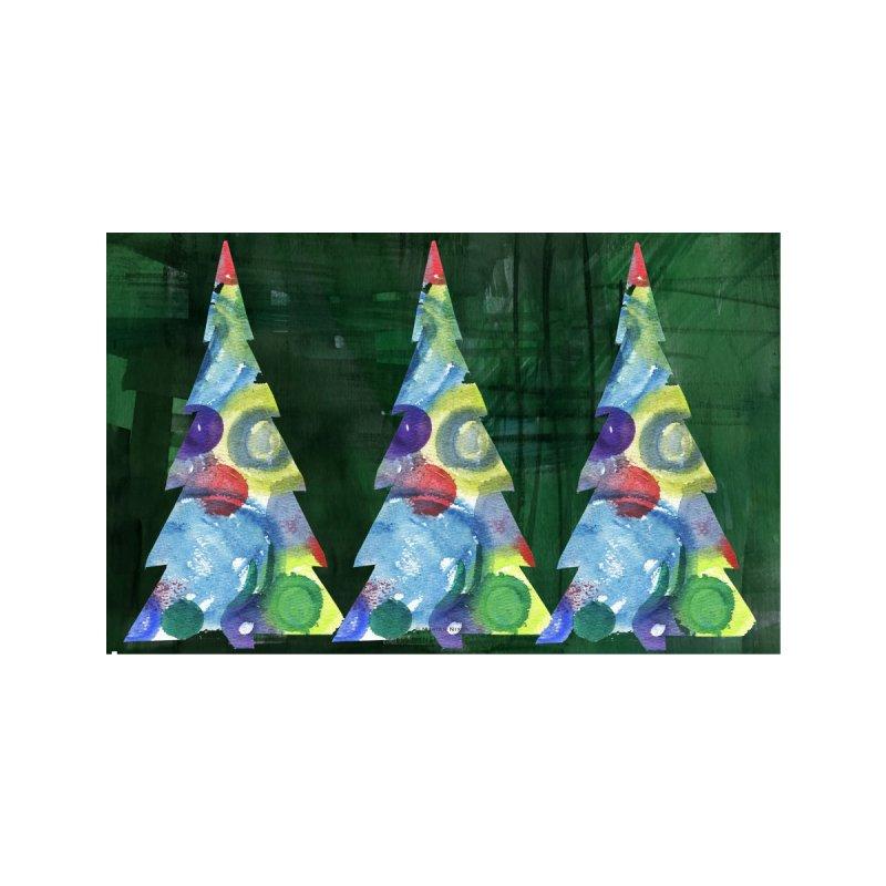 Christmas Trees by Marian Nixon Paintings Kids T-Shirt by Mariannixon's Artist Shop