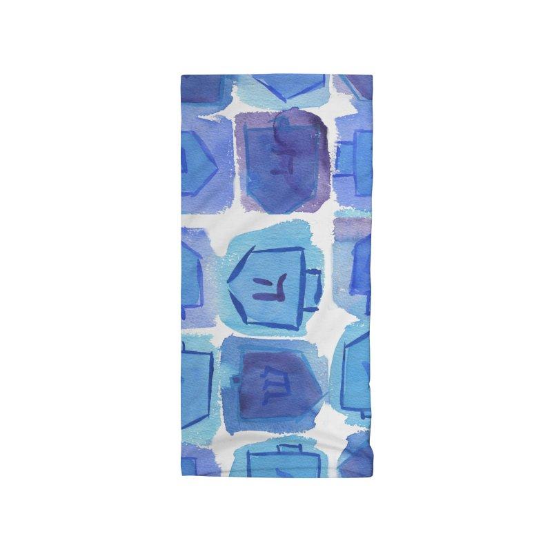 Chanukah Dreidels By Marian Nixon Paintings Accessories Neck Gaiter by Mariannixon's Artist Shop