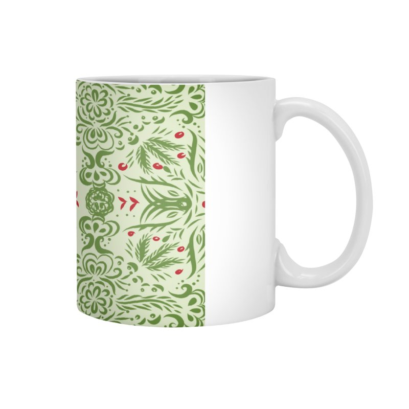 Christmas Abstract by Marian Nixon Paintings Accessories Mug by Mariannixon's Artist Shop