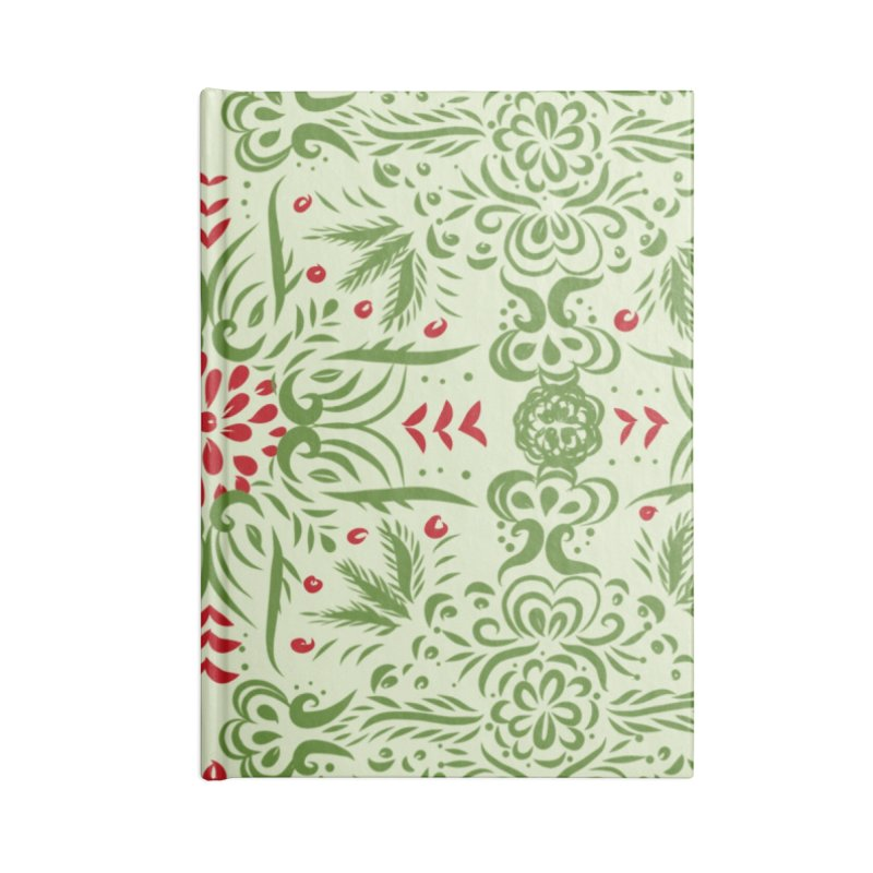 Christmas Abstract by Marian Nixon Paintings Accessories Notebook by Mariannixon's Artist Shop