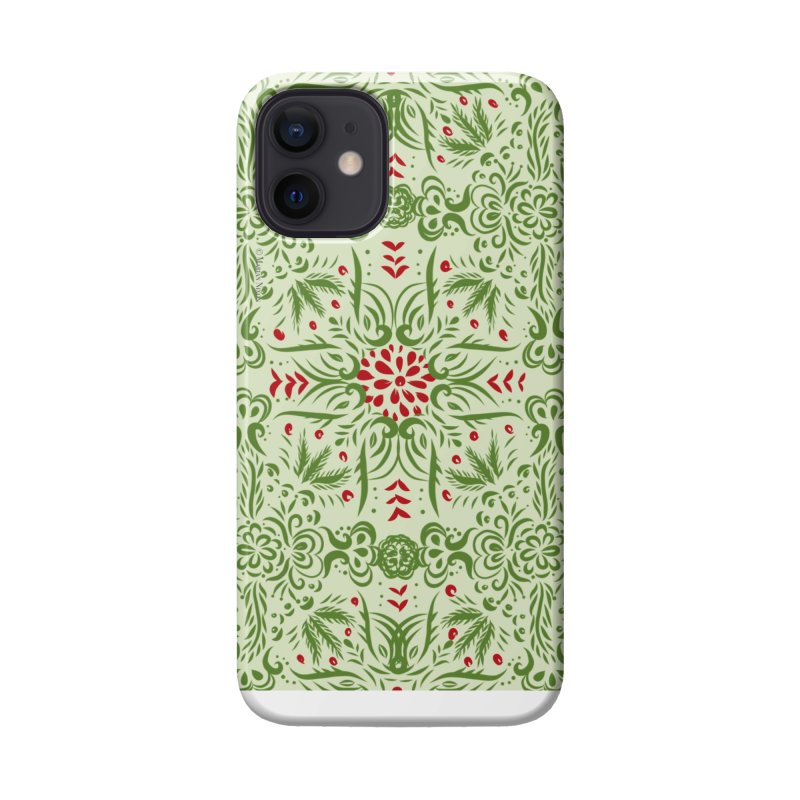 Christmas Abstract by Marian Nixon Paintings Accessories Phone Case by Mariannixon's Artist Shop