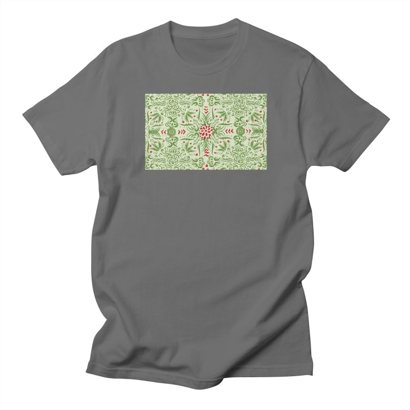 Christmas Abstract by Marian Nixon Paintings Men's T-Shirt by Mariannixon's Artist Shop