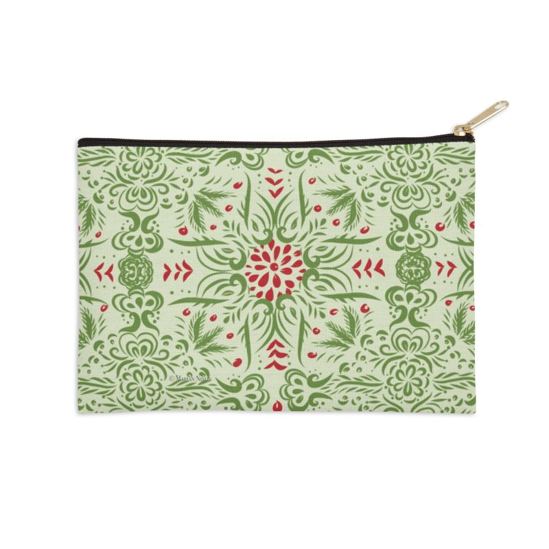 Christmas Abstract by Marian Nixon Paintings Accessories Zip Pouch by Mariannixon's Artist Shop