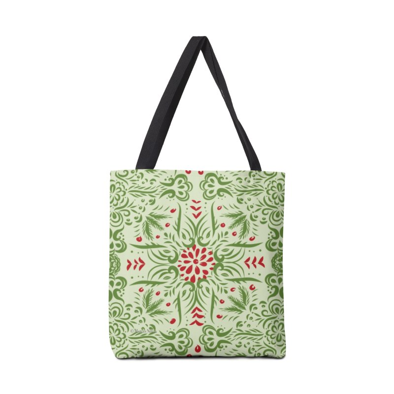 Christmas Abstract by Marian Nixon Paintings Accessories Bag by Mariannixon's Artist Shop