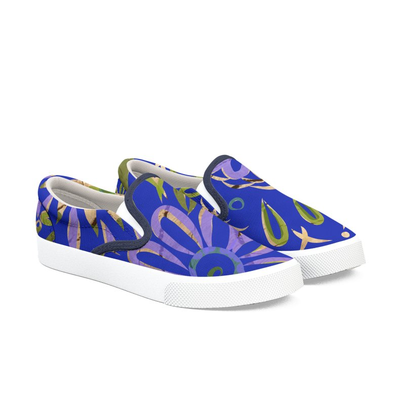 Blue Swirl on Wood by Marian Nixon Men's Shoes by Marian Nixon's Artist Shop