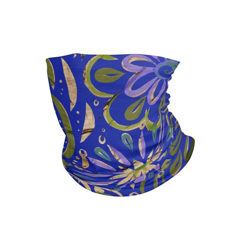 Blue Swirl on Wood by Marian Nixon Accessories Neck Gaiter by Mariannixon's Artist Shop